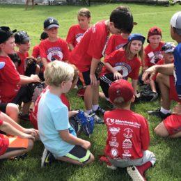 Circuit Baseball group huddle